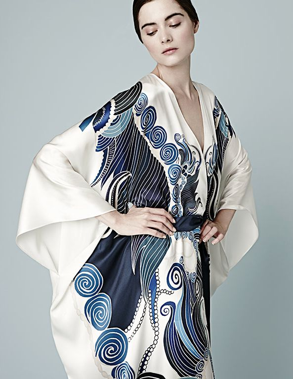 Best Loungewear: Meng This print looks like it stepped off a rare Japanese painting. So, so lovely.