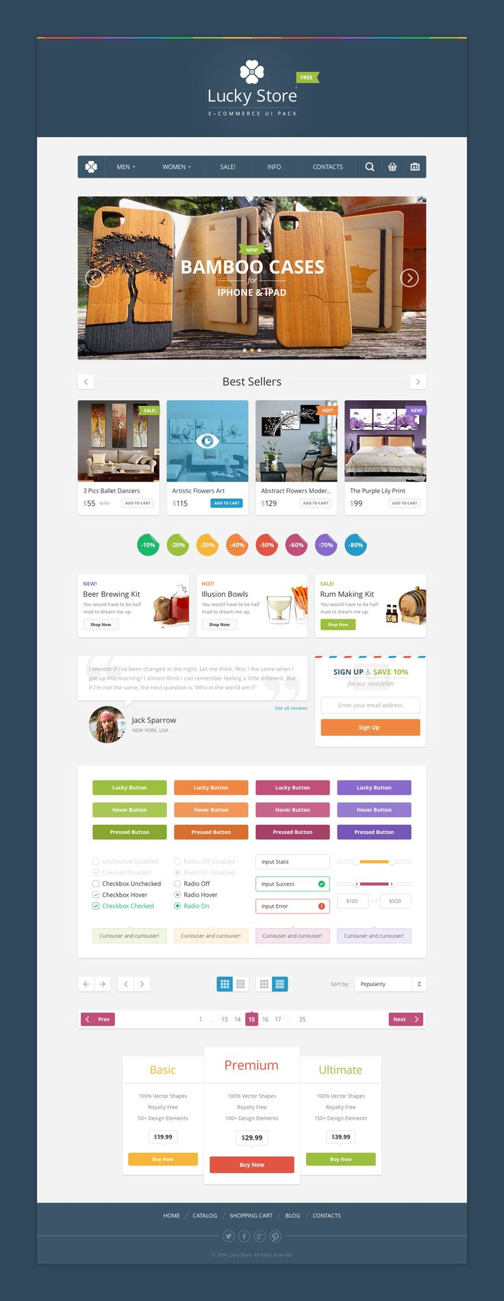 Lucky Store UI - download freebie by PixelBuddha