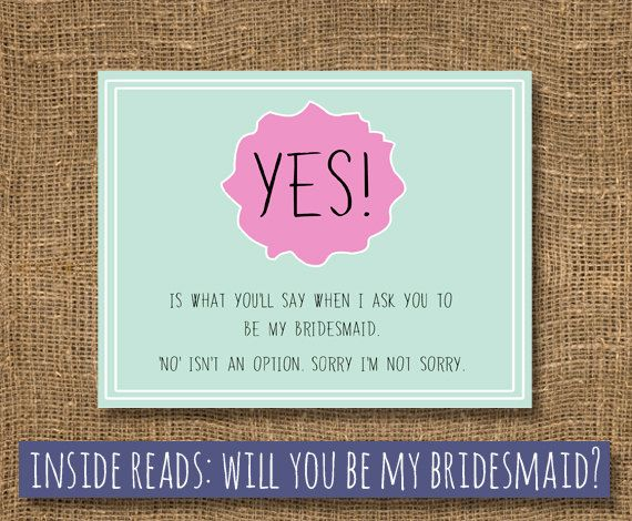 The 25 best how to ask groomsmen ideas on pinterest asking to yes is what youll say when i ask you to be my bridesmaid card card for maid of honor way to ask maid funny card to ask bridesmaid junglespirit Image collections