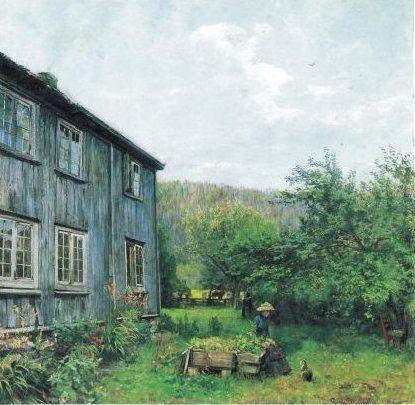 Gerhard Munthe (Norway, 1849-1929): In the Garden, 1885