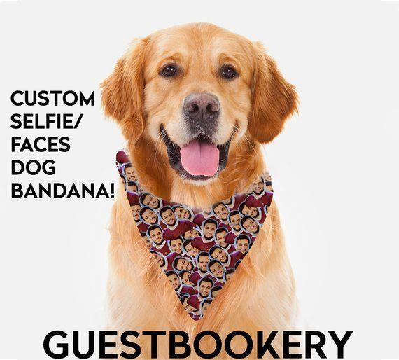 Dog Bandana Custom Face Funny Dog Bandana Custom Dog Bandana