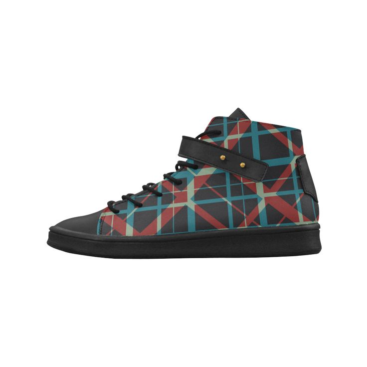 Plaid I black Hi Top stylish plaid pattern sneakers punk rock  Women's  Shoes by Scar Design #shoes #womenshoes  #cheapshoes #uniqueshoes #plaidshoes #hipster #sneakers #womenssneakers #blacksneakers #plaidsneakers #hipsterhitopsneakersshoes #buywomenssneakers #everydayshoes #hipstershoes #hipsterstyle #plaid #coolshoes #buyshoes