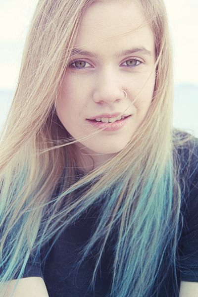 turquoise dip dye on blonde hair - Google Search