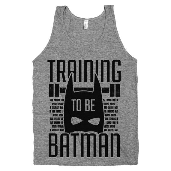 Training to be Batman Nerdy Super Hero by stridefitnessapparel, $22.00 #batman #workouttanktop