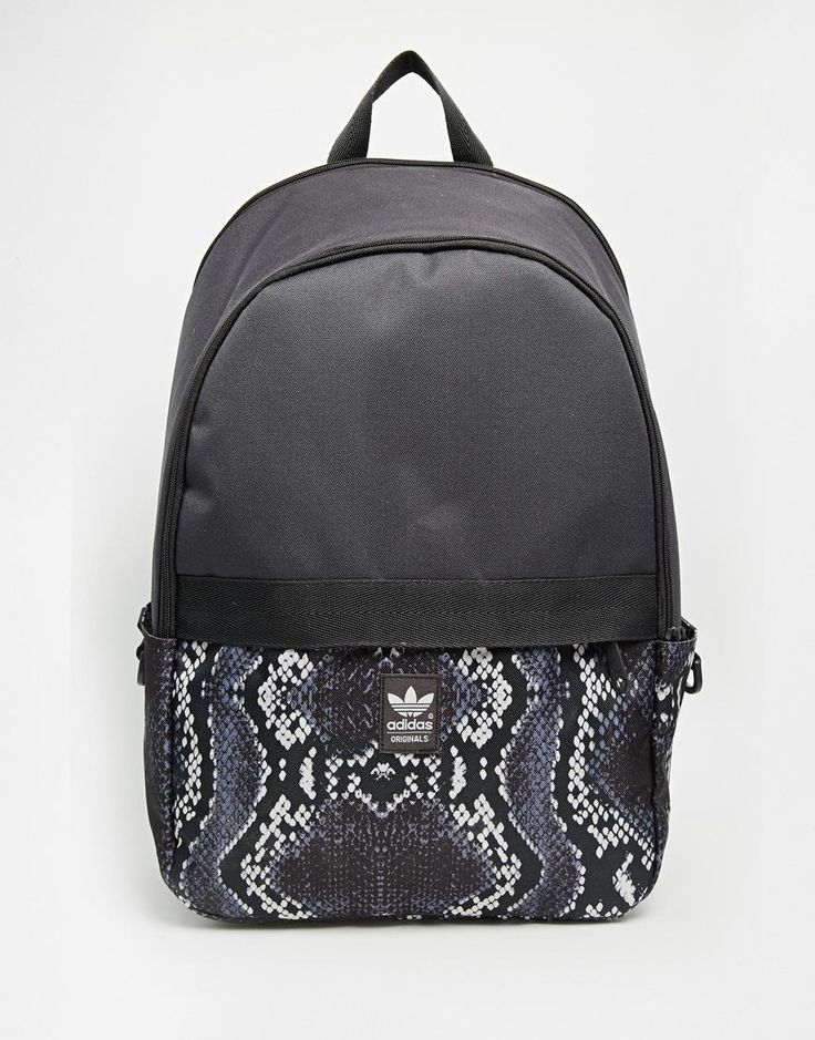 adidas Originals Backpack with Snake Skin Contrast Print
