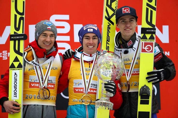 Congrats to the three best overall this season; Stefan Kraft, Kamil Stock and Daniel André Tande
