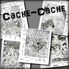 Je republie aujourd'hui les fameux fichiers «cache-cache» (4 fichiers de 12 dessins) que j'avais remis en forme il y a 4 ans déjà. Utilisables en cycle 2 et 3, c…