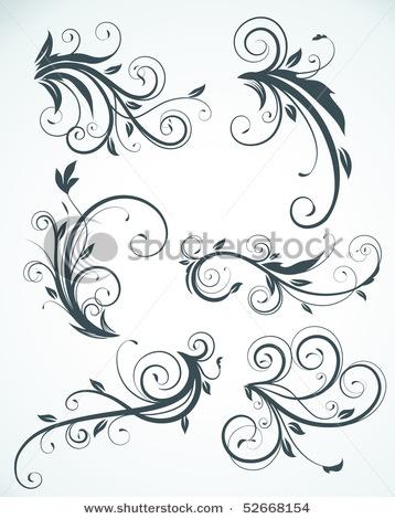 Swirling flourishes.