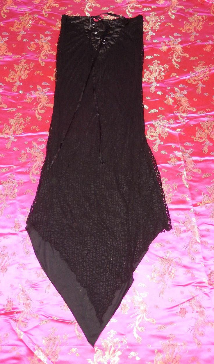"""LIP SERVICE Spellbound Mesh """"Cities In Dust"""" long skirt #26-60"""