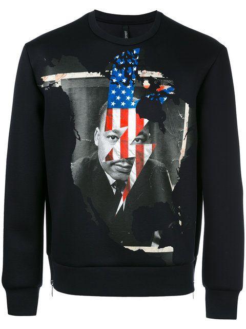 NEIL BARRETT Marther Luther King sweatshirt. #neilbarrett #cloth #sweatshirt