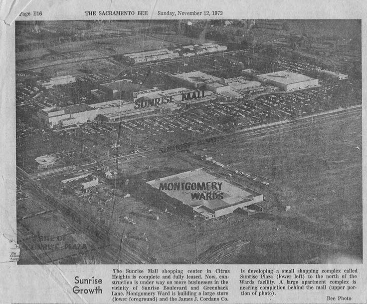 Sunrise Mall grows, Citrus Heights, CA 1972