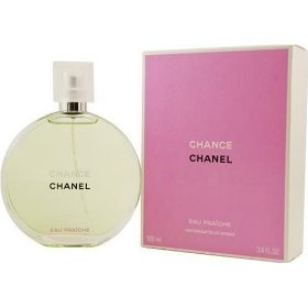 Chance Eau Fraiche by Chanel. I'm not a huge perfume person, but this smells AMAZING! Maybe for my birthday :)
