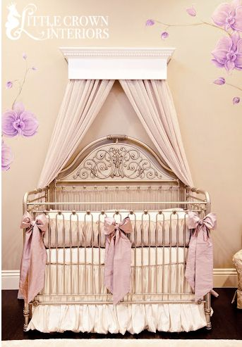 Little Crown Interiors Shop | Orchid Lilac Silk Crib Bedding Set | Online Store Powered by Storenvy