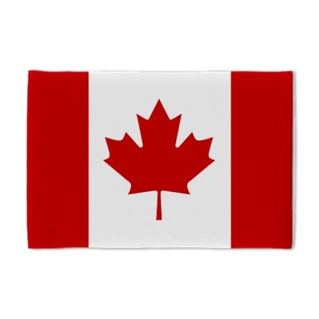canadian flag pillow case