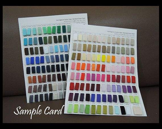 Sample Card - Herringbone Cotton Twill Tape Standard Color Chart - sample general color chart