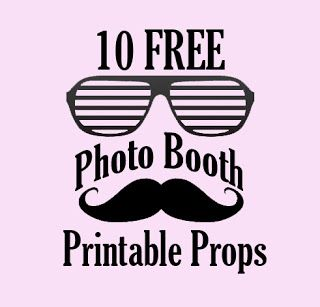 Photo prop - can be printed. I was thinking of using these as parts of the center pieces instead of flowers. So people can have fun with photography! http://www.bespoke-bride.com/2012/12/11/10-free-photo-booth-prop-printables/