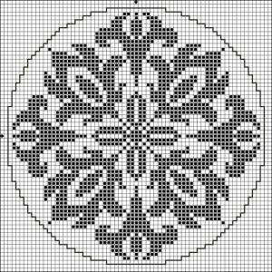 Round 13 | Free chart for cross-stitch, filet crochet | Chart for pattern - Gráfico