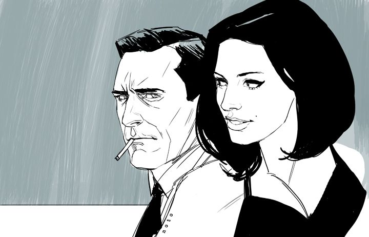 Mr. and Mrs. Draper by Phil Noto.: Phil Noto, Guys Stuff, Don Draper, Gorgeous Mad, Madmen, Art, Mad Men, Illustrations Retro, Philnoto