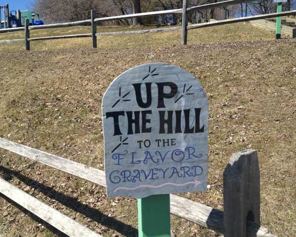 We wouldn't want you to get lost! A Visit to the Ben & Jerry's Flavor Graveyard