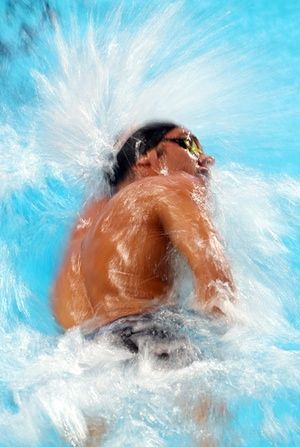 Gregorio Paltrinieri of Italy swims down his lane to the gold medal in the Men's 1500m Freestyle Final