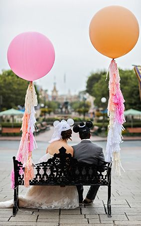 Geronimo balloons and a Disneyland wedding? Yes please!