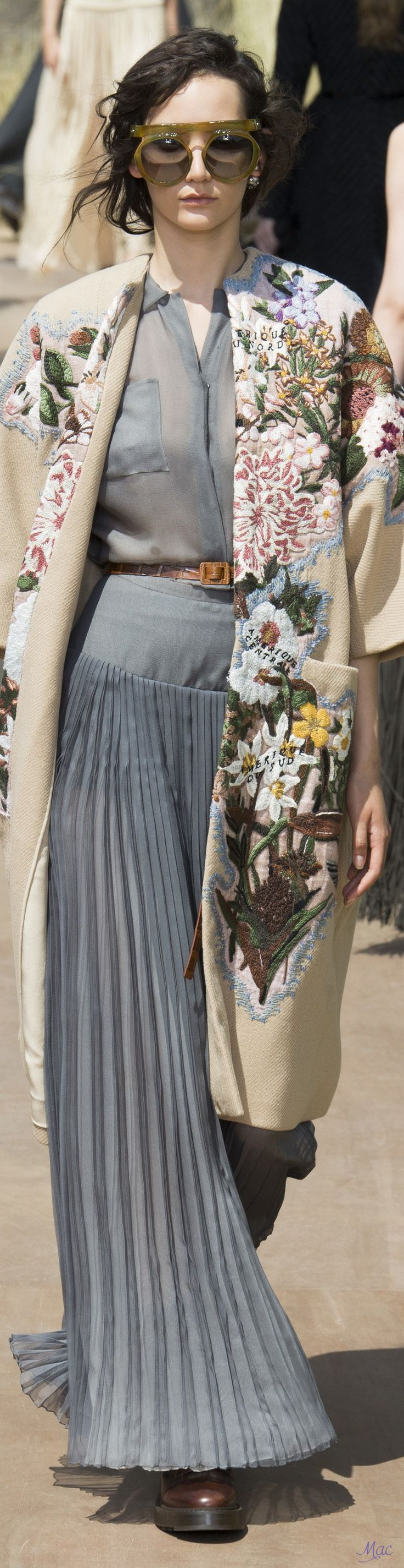Fall 2017 Haute Couture Christian Dior OUTFIT Inspiration: | Cinderella Blue Maxi Dress + FLORAL Patterned Coat