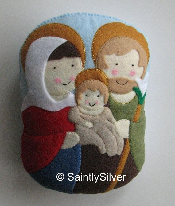 Large Holy Family Felt Saint Softie by SaintlySilver on Etsy