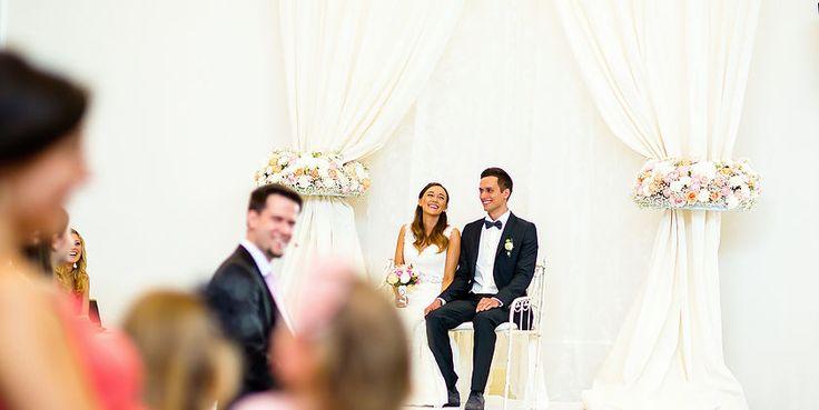 Ceremony Backdrop | Zeremonie Hintergund | Stoff | Gardinen | Blumenringe |