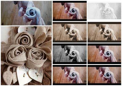 ROSELLINE con fettuccia di tessuto ....video tutorial