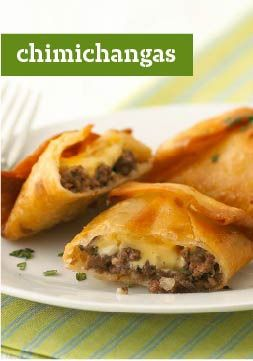 Chimichangas – Looking for some Mexican-inspired menu fare? Check out this crispy main that's easy, cheesy and better for your abuela's. Just don't tell her we said that.