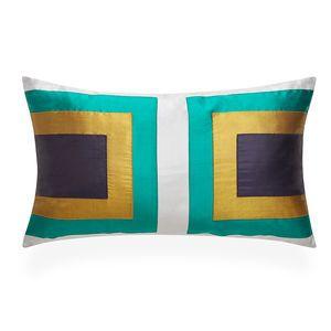 Jonathan Adler Emerald Siam Collision Throw Pillow