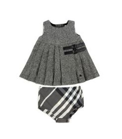 Designer Baby: Burberry Baby Tweed Kilt Dress