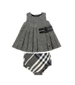 Designer Baby: Burberry Baby Tweed Kilt Dress