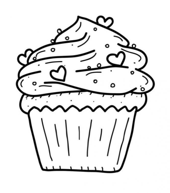 Free Cupcake coloring page Fun