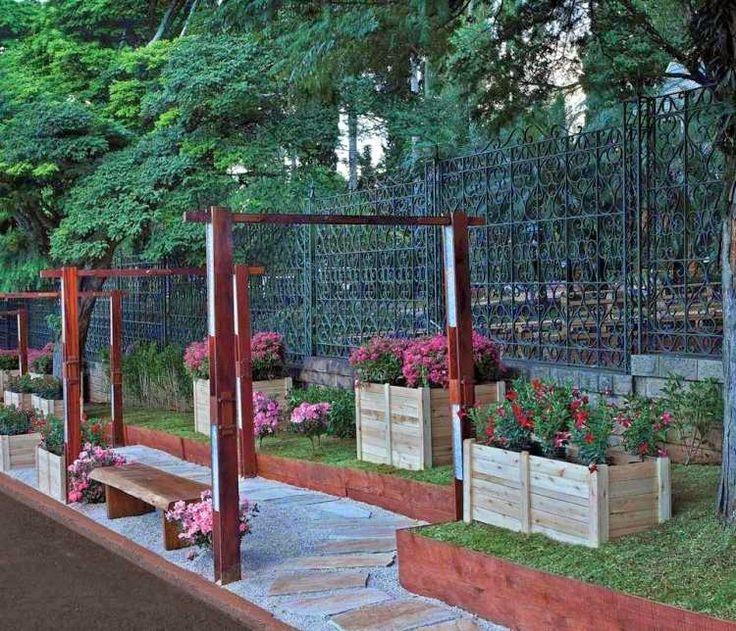 garden fence panels functional ideas modern garden fencing