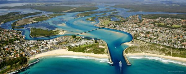 Entrance to Magnificent Wallis Lake, Forster Tuncurry, Mid North Coast, NSW, Australia