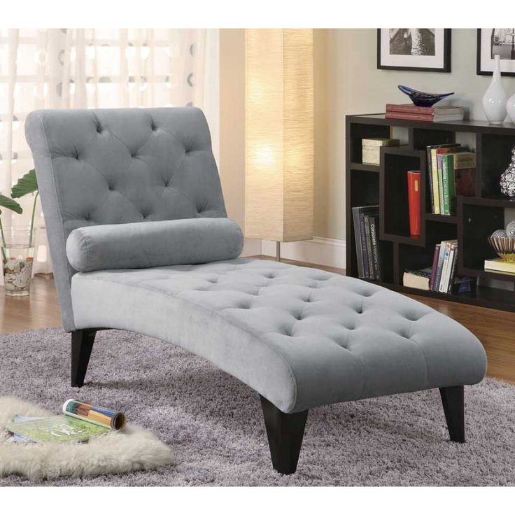 Coaster Grey Transitional Chaise