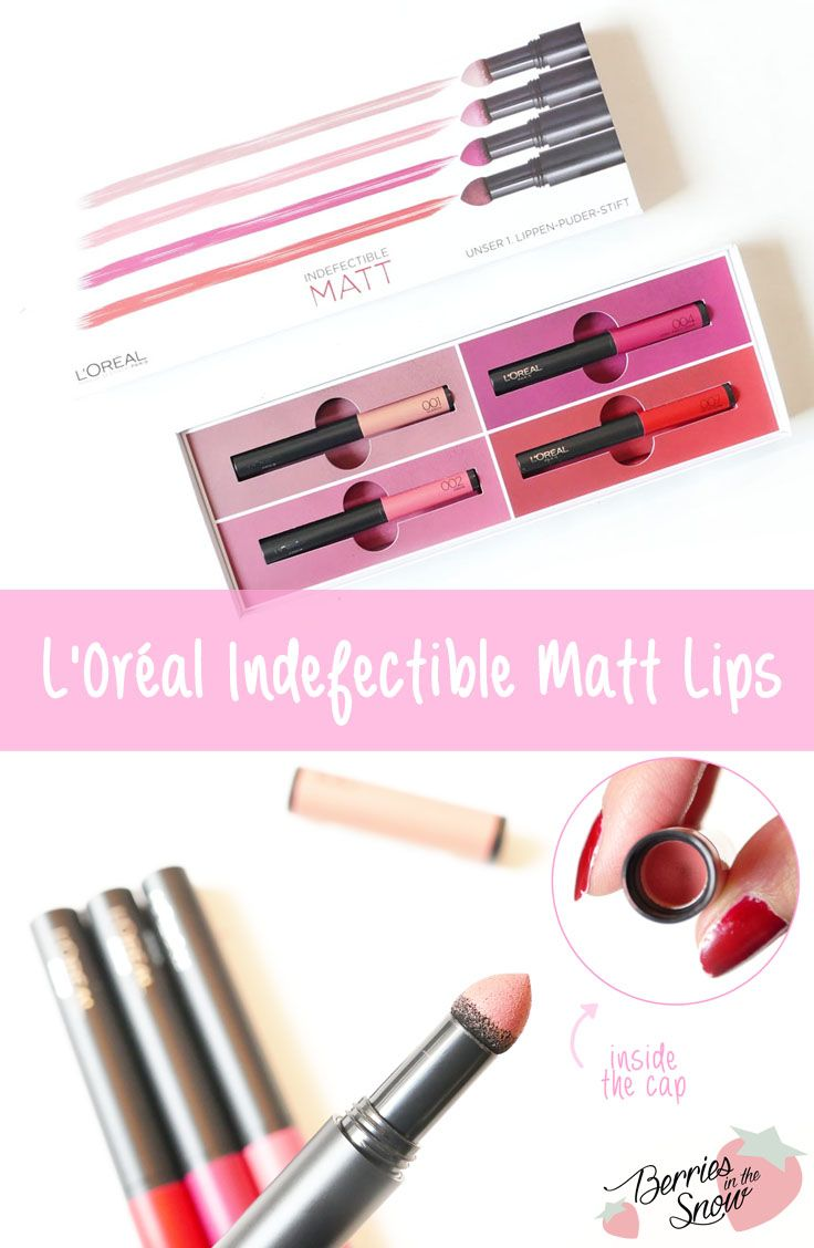 L'Oréal Indefectible Matt Lippen-Puder-Stifte #loreal #lips #makeup
