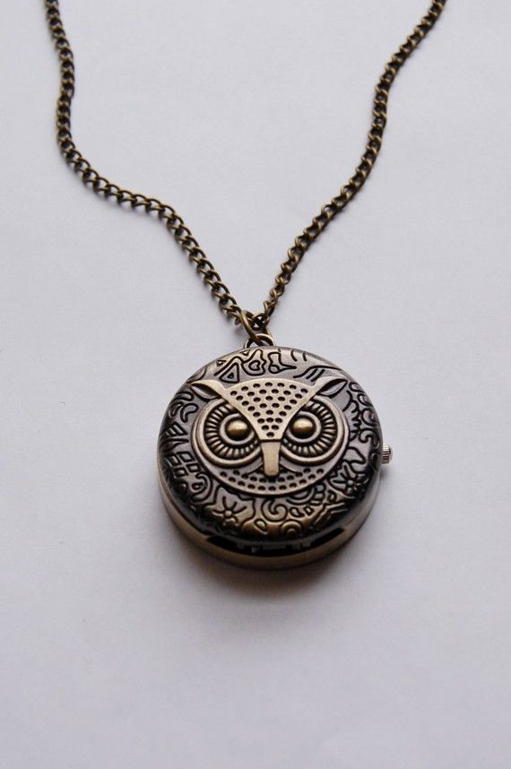 "owl pocket watch , i have been looking for one of these EVERY were i want one about 32"" long i want one so bad"
