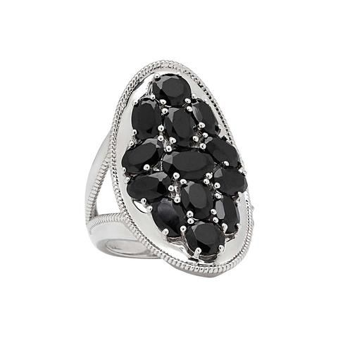 Black Spinel Multi Gemstone Ring