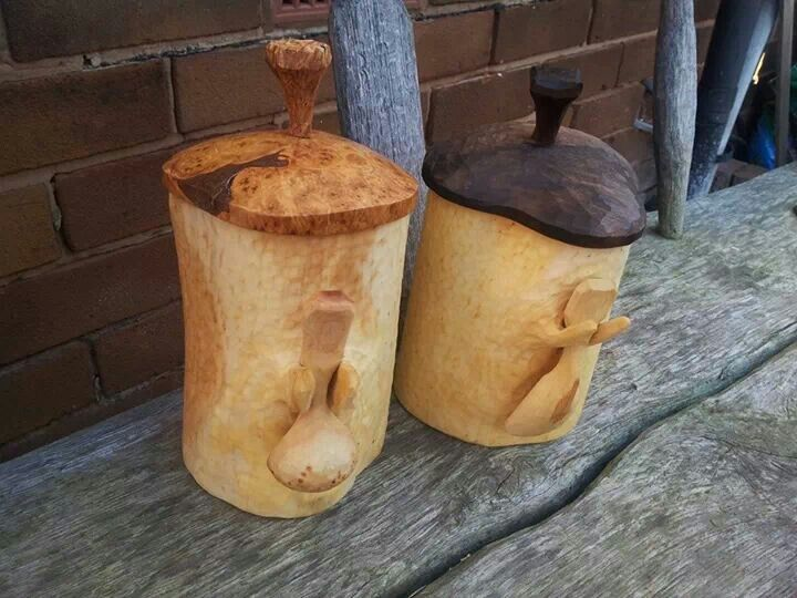 John Mullaney - pair of shrink pots.