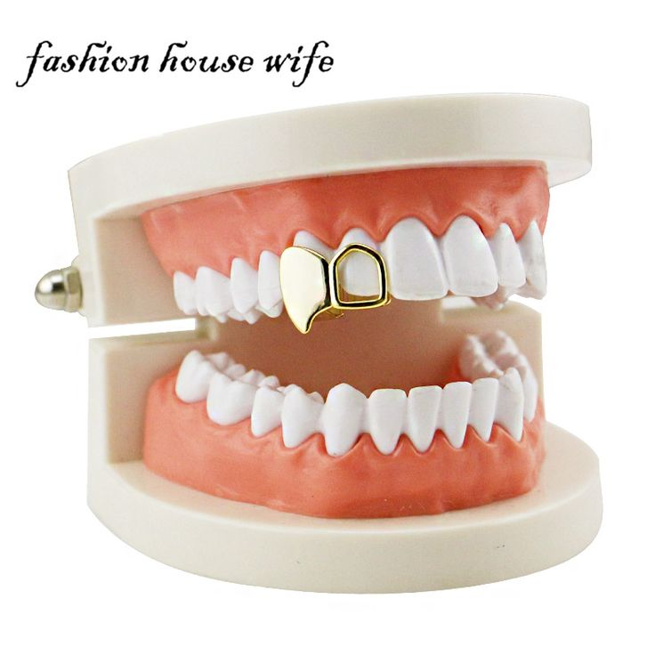>> Click to Buy << Fashion House Wife Hip Hop Fang Grillz Vampire Gold Teeth Grillz Dental Hollow Top Upper Tooth Caps Halloween Party Jewelry  #Affiliate