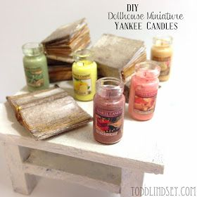 Todd & Lindsey: DIY DOLLHOUSE MINIATURE YANKEE CANDLES