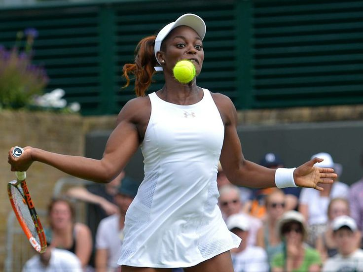 Sloane Stephens, the great hope of Amercian tennis, falls at the first hurdle.