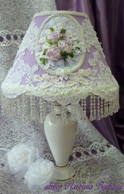 131 best victorian lampshades images on pinterest lamp for Vintage shabby chic lighting