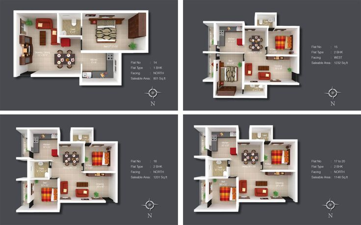 Sree Daksha's Kshiptha - Flat Floor Plan