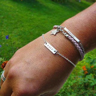 #Personliga #smycken #Armband i #silver med #stansad #text #bracelet #nofilter Älskade Barn