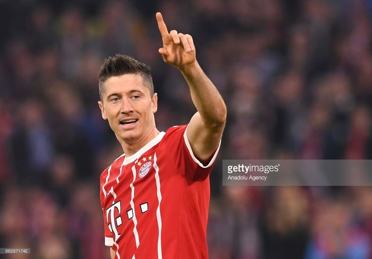 Robert Lewandowski of Bayern Munich reacts during the Champions League group B soccer match between FC Bayern Munich and Celtic FC at the Allianz Arena on October 18, 2017, in Munich, Germany.