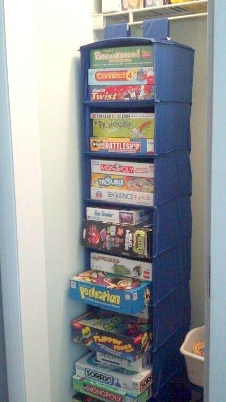 Board Game Storage Idea                                                       …