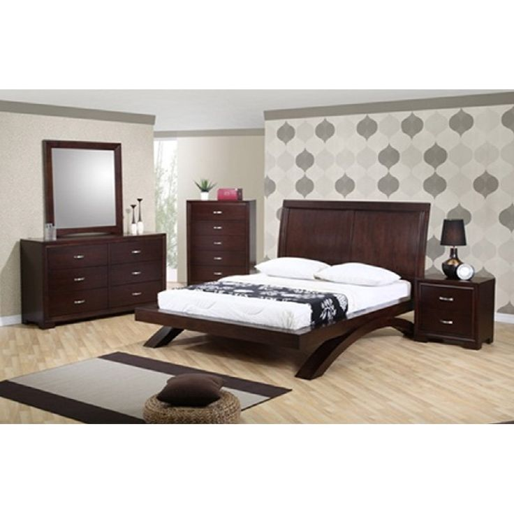Sunset Trading Raven Platform Bed Set   With Its Sleek Lines And Platform  Bed, The